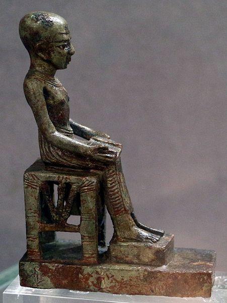 Epoca_tarda,_statuetta_di_imhotep,_bronzo_01